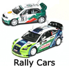 New Slot Car Modellers Shop - Model Scalextric Rally Cars - Subaru Impreza, Ford Focus, Seat Leon, Skoda Fabia, Peugeot 307,