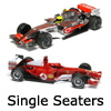 New Slot Car Modellers Shop - Model Scalextric Single Seater Cars - Formular 1 (F1), A1, Renault, Honda, Ferrari, Mercedes-Benz, Mclaren