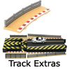 New Slot Car Modellers Shop - Model Scalextric Track Accessories / Extras - Kerb and Barriers, Track Clips,
