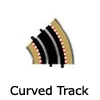 New Slot Car Modellers Shop - Model Scalextric Curved Track - Radius 1 Curve, Radius 2 Curve, Radius 3 Curve, Radius 4 Curve, Racing Curve, Banked Curve