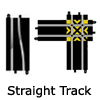 New Slot Car Modellers Shop - Model Scalextric Straight Track - Half Straight, Quarter Straight, Side Swipe Straights, Converter Straight, Starter Grid, Straight Crossover, Extension Packs