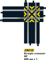 Scalextric Track - Scalextric Straight Crossover C8210
