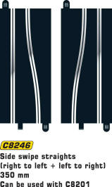 Scalextric Track - Scalextric Side Swipe Straights - C8246